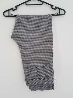 H&M Plaid Checkered/Houndstooth Slim Ankle Length Pants
