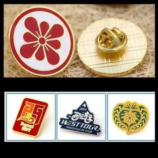 Customise Metallic Collar Pins Badges