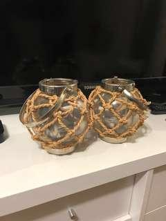 2 Nautical tealight holders