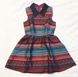 Dress Multicolor Print