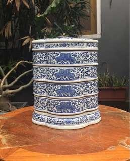 Rantang keramik vintage 1900 kondisi lengkap