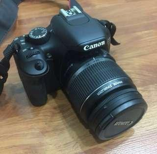 Canon 550D with 18-55 mm len.