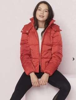 Red Puffer Jacket - Small