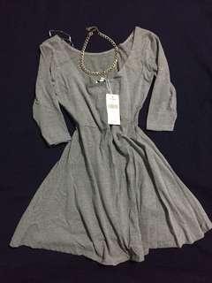 Cotton soft 3/4 mini dress
