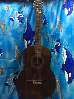 isuzu acoustic guitar (nylon strings)