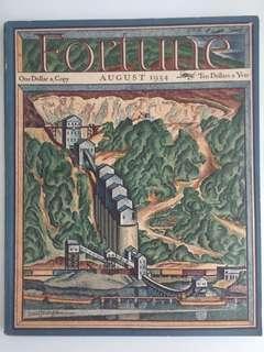 Vintage Fortune Magazine August 1934