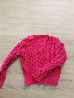 Fuchsia Knitted Top
