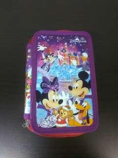 Disneyland triple pencil case