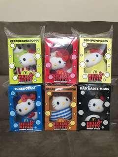 McDonald's Sanrio Hello Kitty Bubbly World Plush (Set Of 6)