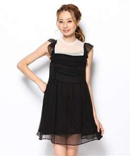 Snidel 黑白雪紡裙