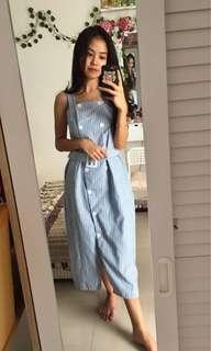Dress garis biru putih hits