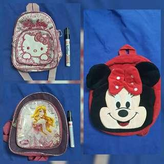 Take all 3 toddler bag packs