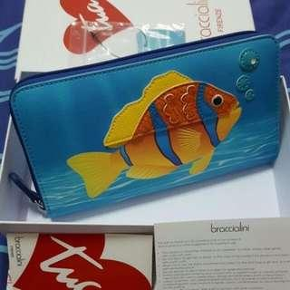 Sale! Braccialini Tua Long Zip Wallet- Fish In Sea