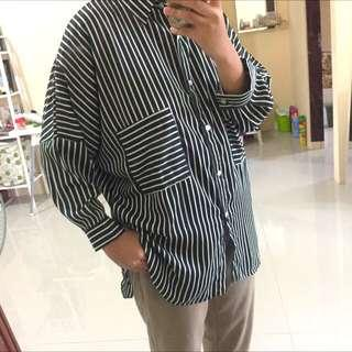 Stripe loose shirt