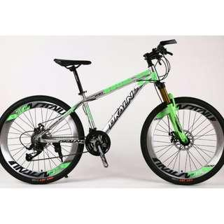 "Chromed Aluminium 26"" All Terrain Bike ☆ anti-corrosion ! ☆ Microshift 27Speeds, Sports Rims, Lockout Front Suspension ☆ Brand New Bicycle *890Dk2627Al"