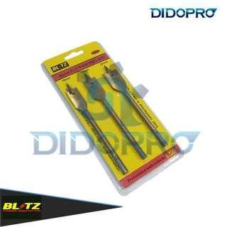 Mata Bor Kayu Gepeng Kipas Flat Wood Drill Bits Set 3pcs Blitz
