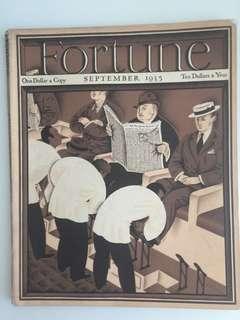 Vintage Fortune Magazine September 1935