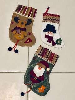 Christmas stocking decor (Set of 3)