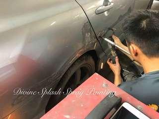 Car paint damages repair & respray