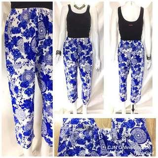 Beautiful floral garterized floral pants