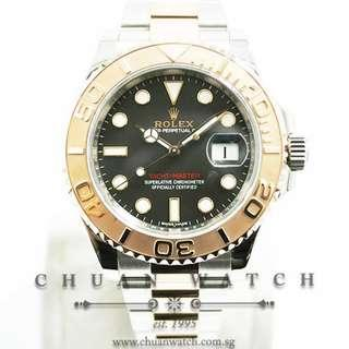 Pre-Owned Rolex Gents' Yacht-Master Two-Tone 40mm 116621 Black