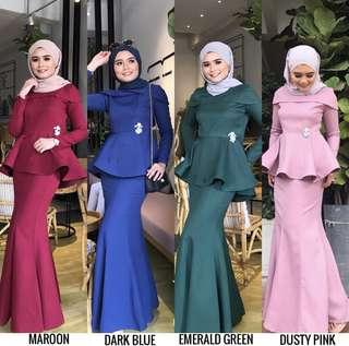 Calice peplum kurung set