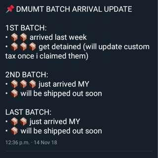 📌📦 EXO DMUMT ARRIVAL UPDATE