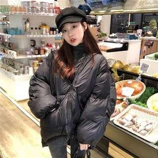 🚚 鋪棉 保暖 外套 可愛 連帽外套 黑色 褐色
