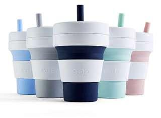 Stojo Biggie (470ml) and pocket cup (350ml) collapsible cup US product