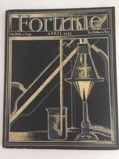 Vintage Fortune Magazine April 1935