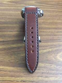 26mm/26mm Unwaxed Natural Bridle leather (tough and very durable strap) Slate Grey Stitching on Brown Leather Watch 🌟 for Panerai Watch