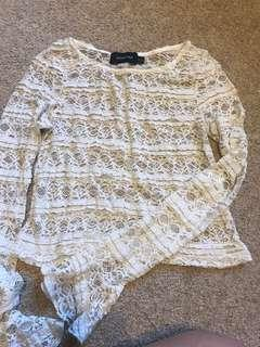 Minkpink lace detailed top