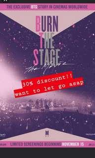 [WTS] BURN THE STAGE TICKETS @ NU SENTRAL