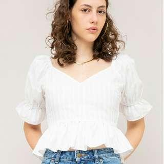 White Blouse TFL Currency Top
