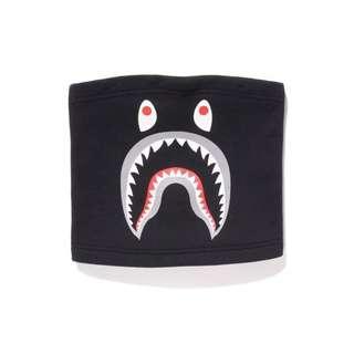 🚚 A bathing ape bape shark neck warmer 黑色  鯊魚圍脖