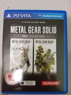 Ps Vita Games metel gear solid hd collection