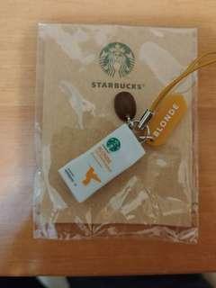 星巴克 咖啡豆包裝電話繩扣 starbucks mini coffee box phone line