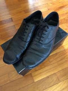 ZALORA black faux leather shoes