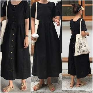 Brand New Two Way Long Dress in BLACK