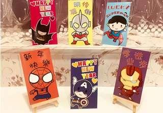 Marvel Superhero Red Packet Angbao 6's