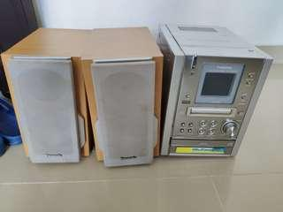 🎇❴清倉價❵ 85%新 Panasonic松下SA-PM37MD MD立體聲系統喇叭