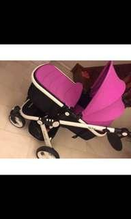 Pram stroller in PINK  (exactly the same as MITERA