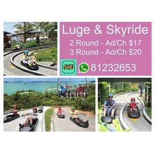 Luge & Skyride - 2 Round / 3 Round ---   Luge   Luge   Luge    Luge   Luge   Luge