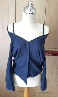 Navy top nett