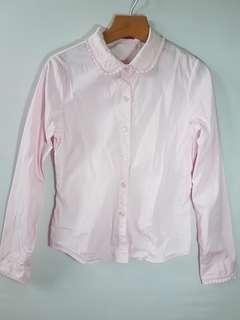 🚚 why and 1/2 襯衫粉色155cm  僅下水 未穿