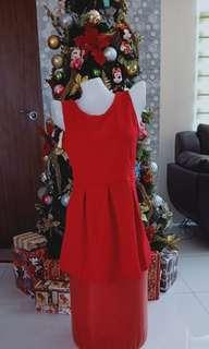 Christmas Sale Simple but elegant Red dress