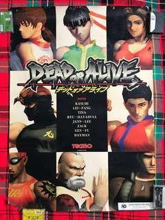 Very Rare Vintage 1996 Tecmo Dead Or Alive Retro Games Big Poster