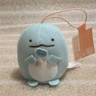 日本 SAN-X 景品 SUMIKKO GURASHI 角落生物 蜥蝪 豆袋 毛公仔 掛飾