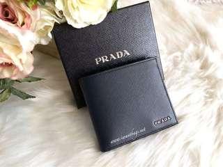 Prada 2MO513 Saffiano Bi-Color Men's Wallet-Baltico+Black