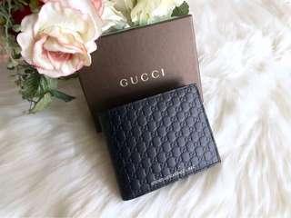 Gucci Microguccissima Bifold Wallet-Dark Blue